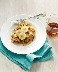 Kosher Recipes // Banana-Maple Matzo Brei Recipe