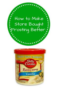 how to make store bought frosting fluffy