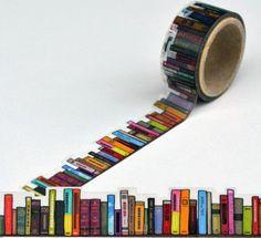Bookshelf masking tape.