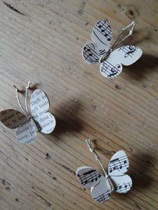 sheet music butterflies