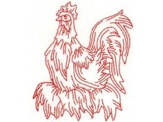 Free Rooster Pictures to Print | FREE ROOSTER EMBROIDERY DESIGNS - Embroidery Designs