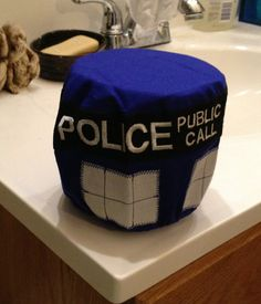 TARDIS Embroidered Doctor Who Toilet Paper Roll by GeekThread, $20.00