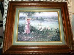 Vintage BETTIE FELDER Print THRU GODS GRACE Chic Wooden Wall Frame ART