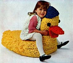 Jumbo Duck Ride ~ Crochet - Free  Pattern