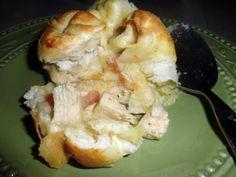 Chicken pot pie buscuits