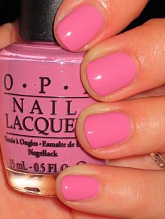 OPI Sparrow Me the Drama - gotta love a simple classic pink #OPI #nails #nailcolor #pink