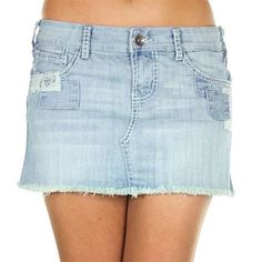 Cowgirl Tuff Women's Patches Cut-Off Skirt