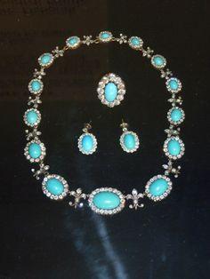 Turquoise and Diamonds - Duchess of Devonshire