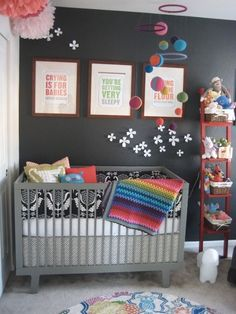 Charcoal and Brights - LOVE THIS!