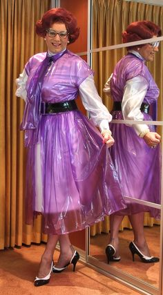 Prim plastic overdress, so elegant to wear