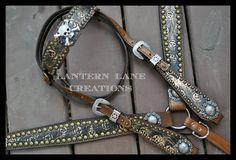 Custom tack set/skull/crossbones