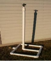 PVC sprinkler holder, no instructions, just picture