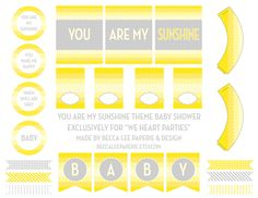 We Heart Parties | FREE {You Are My Sunshine} Baby Shower Printables