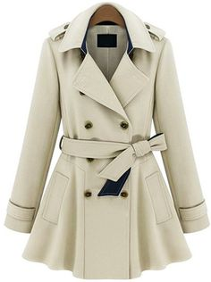 Double Breasted Belt Coat