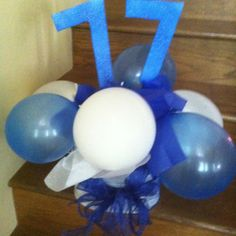 Easy, inexpensive centerpiece for class reunion.