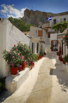 Anafiotika, Athens   Greece (by Darrell Godliman)