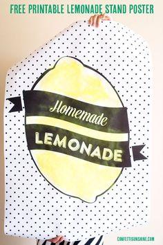 Free Printable Lemonade Stand Poster -