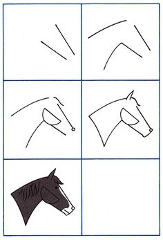 How to Draw Horses Kids Drawing Lesson.