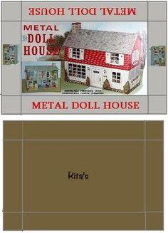 box, printabl dollhous