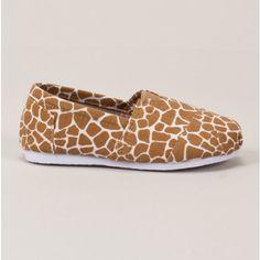 Girls Giraffe Slip On Shoe