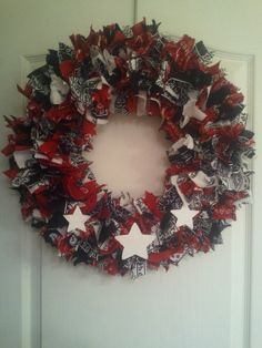 Red, White & Blue Bandana Wreath