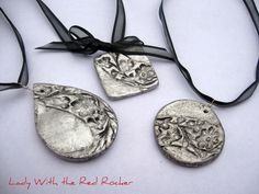 salt dough pendants  recipe and how-to. Love these!