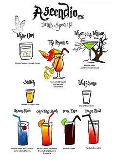 Harry Potter Drink Specials…