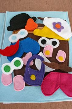 15 Handmade Christmas Gifts to Start Making Early--Mr. Potato Head felt book