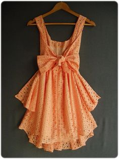 Tangerine eyelet dress - LOVE this
