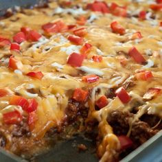 Zucchini Pizza Casserole - oh im SO making this this wknd (sub ground turkey & add extra zucchini)