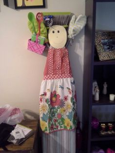 Millie the maid. Broom and ironing board person I made for my cousin as a bridal shower gift.