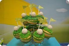 birthday parti, golf cup, golf ball, cupcak idea, golf art, cup cake wars, theme parti, ball parti, minigolf theme
