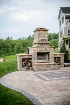Set off your patio with this stunning outdoor fireplace. Use it in any season....