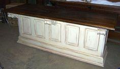 Re-purposed panel door counter.