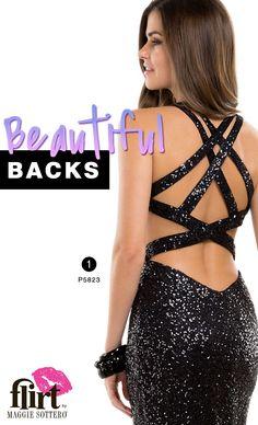 Prom Dress Trend: Beautiful backs #prom #lbd #sequin #sparkle