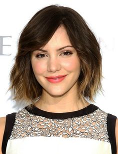 Katharine McPhee's Short Hairstyles: Ombre Haircut for Short Hair
