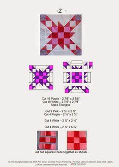 """16 quilt patterns for a sampler quilt """"B. Annie Quilt Book"""""""