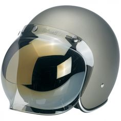 """Biltwell Bubble Shield - Lite Mirror  Injection-molded polycarbonate shields in solid, clear and mirror gradient finishes. Fits stock 3-snap visor configuration on most novelty and DOT helmets. Accept no substitutes: make sure the next bubble shield you own features the """"Biltwell"""" script logo. $24.95"""
