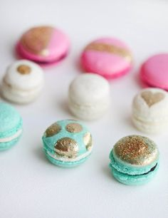 glittered macarons