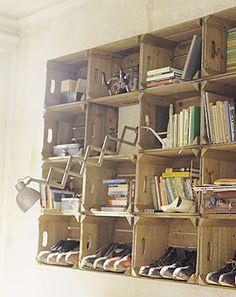 Crates into Bookshelves...