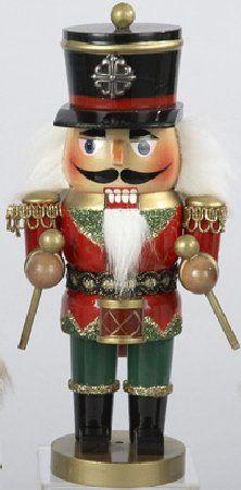 "9"" Wooden Red Drummer Christmas Nutcracker"