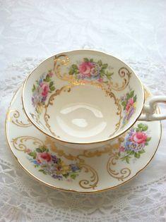 Antique Signed Royal Grafton Bone China Teacup by MariasFarmhouse, $65.00