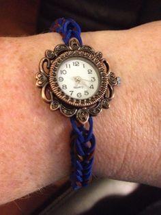 Watch rainbow loom bracelet