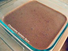 Chocolate gelatin bars