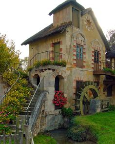 houses, water wheels, dream, marie antoinette, pari, the queen, homes, place, little cottages