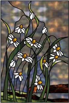 Cornflower Bluff Stained Glass Pattern from Glass Pattern Source