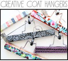 alisaburke: creative coat hangers