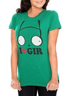 Invader Zim I (Heart) Gir Girls T-Shirt   Hot Topic
