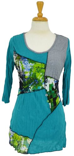 tunic top, aqua stripe, tunic ilovetunicscom, stripe pattern, pattern tunic