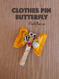 clothes pin butterfl